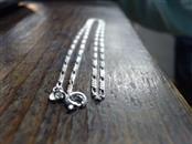 """18"""" Silver Figaro Chain 925 Silver 3.2g"""